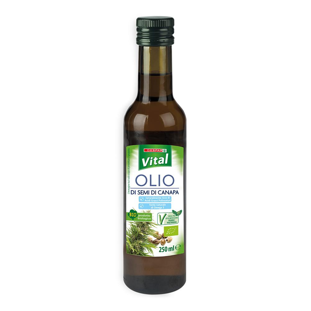 Olio di semi di canapa linea prodotti a marchio Despar Vital
