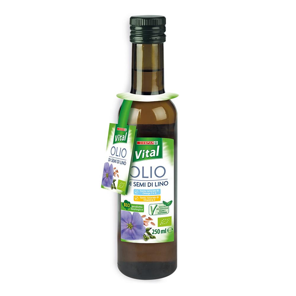 Olio di semi di lino linea prodotti a marchio Despar Vital