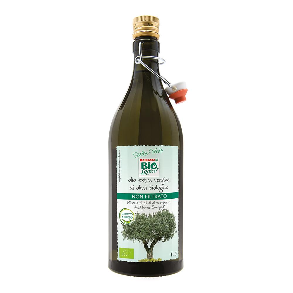 Olio extra vergine di oliva biologico linea prodotti a marchio Despar Bio,Logico