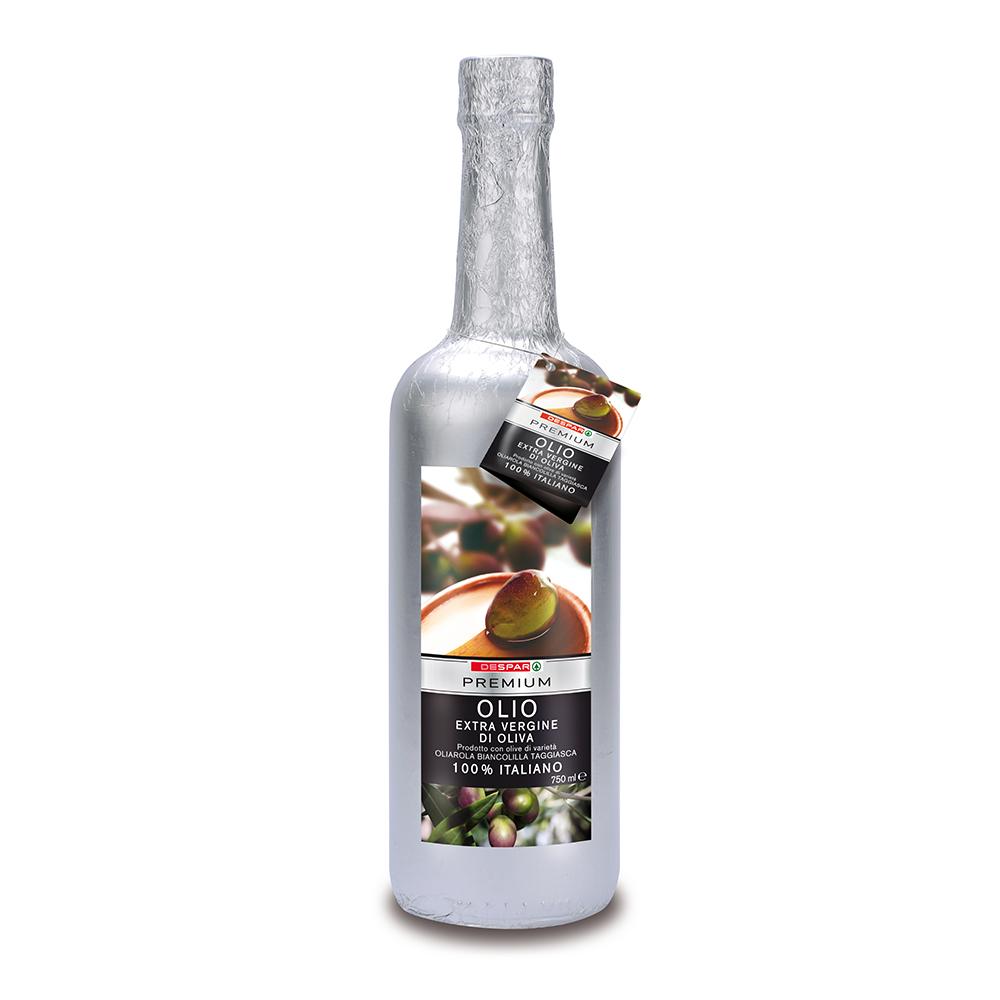 Olio extravergine di oliva linea prodotti a marchio Despar Premium, Despar Italia