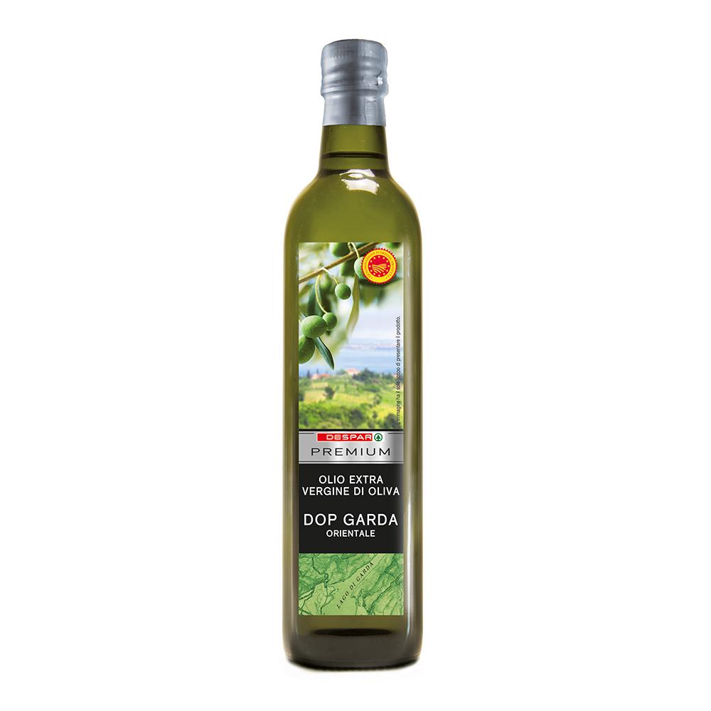 Olio extravergine di oliva DOP Garda orientale linea prodotti a marchio Despar Premium, Despar Italia