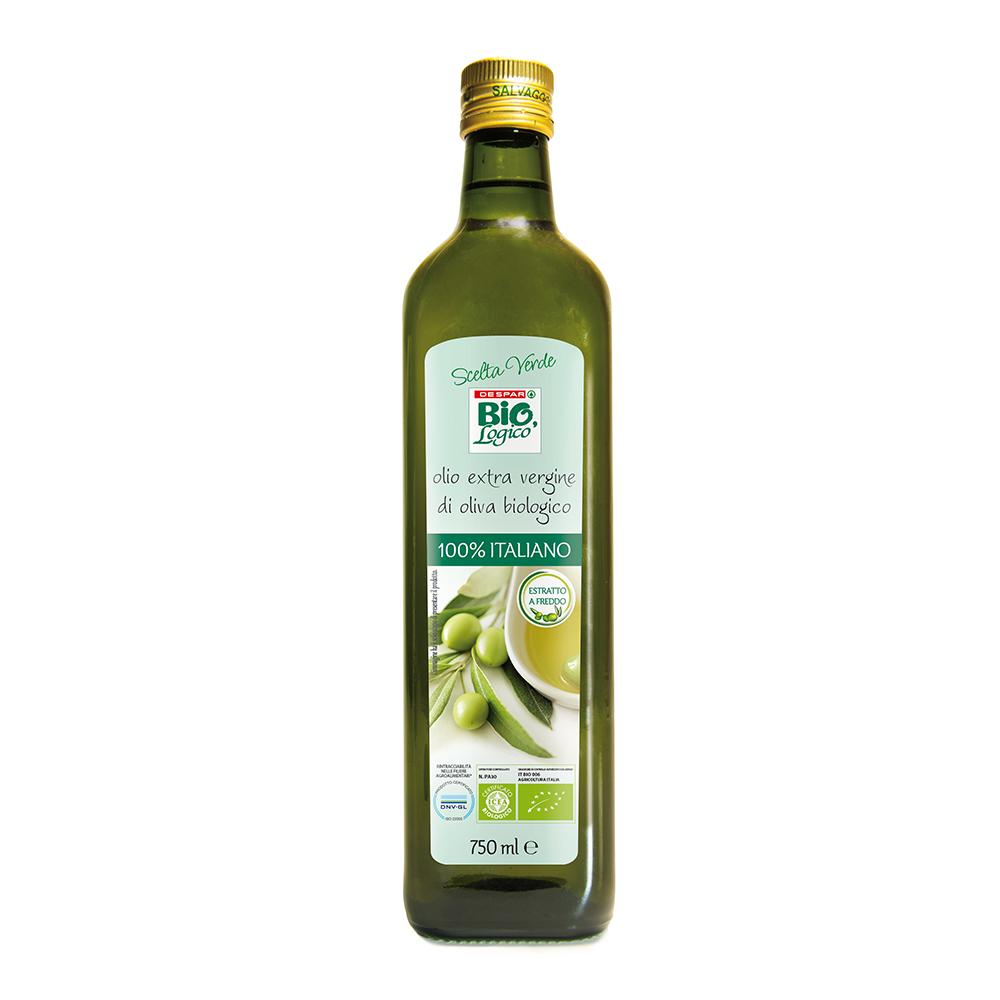 Olio extra vergine di oliva biologico estratto a freddo linea prodotti a marchio Despar Bio,Logico