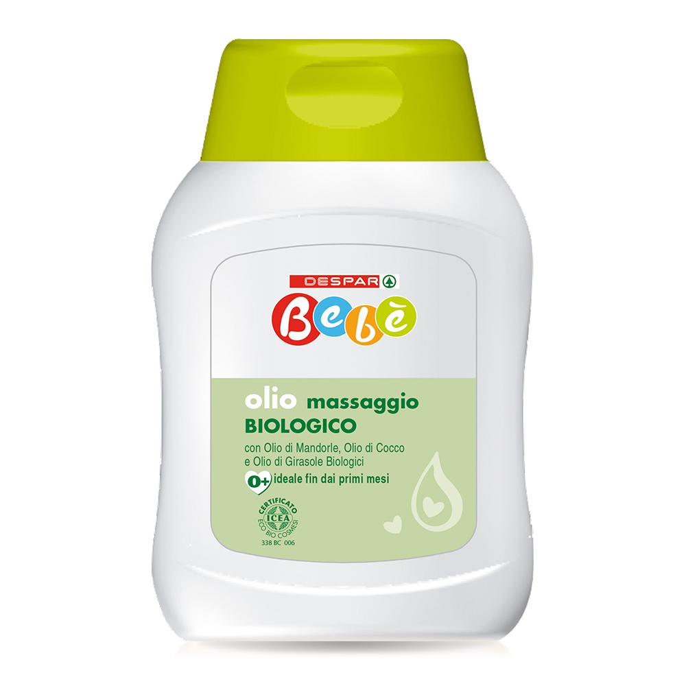 Olio massaggio biologico 150 ml linea prodotti a marchio Despar Bebè