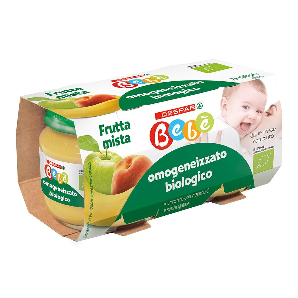 Omogeneizzato biologico frutta mista linea prodotti a marchio Despar Bebè