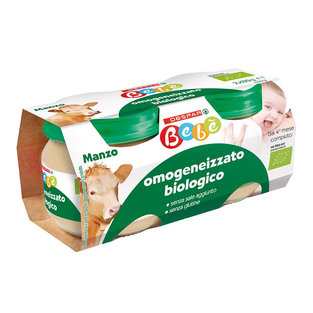 Omogeneizzato biologico manzo linea prodotti a marchio Despar Bebè