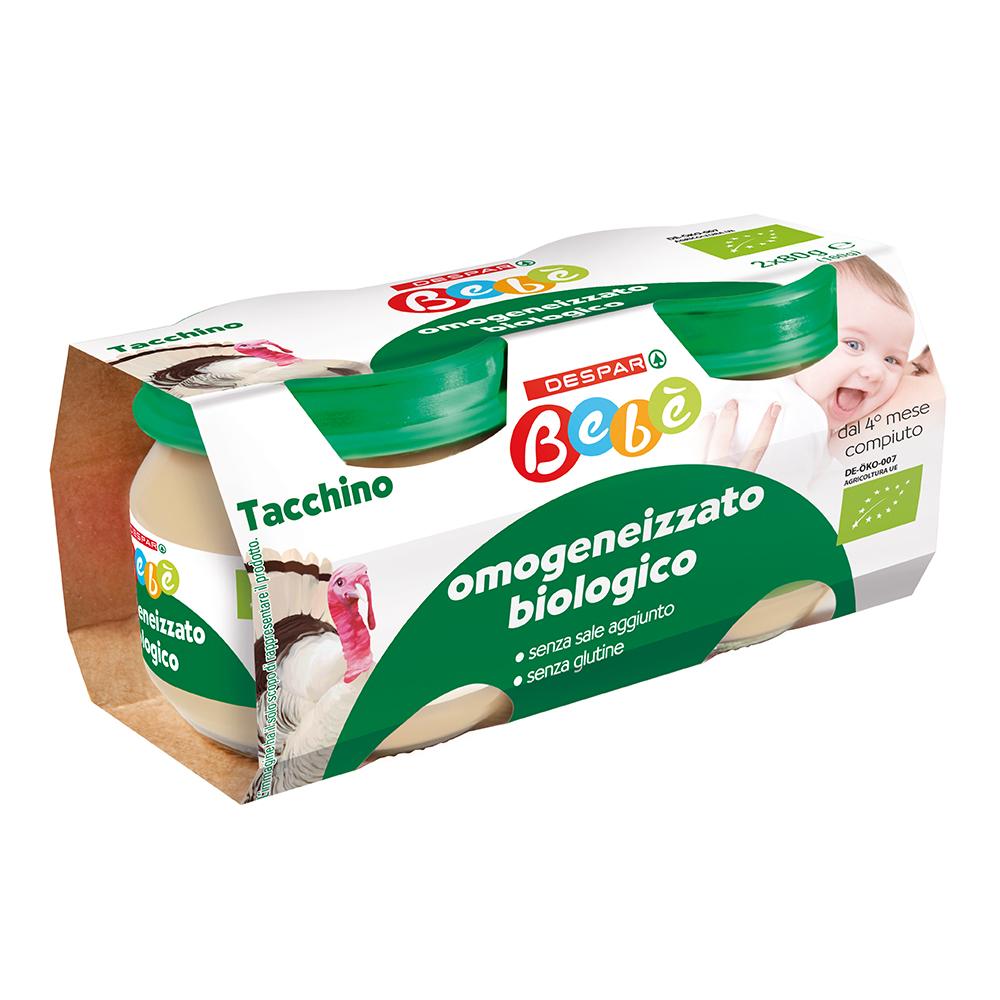 Omogeneizzato biologico tacchino linea prodotti a marchio Despar Bebè