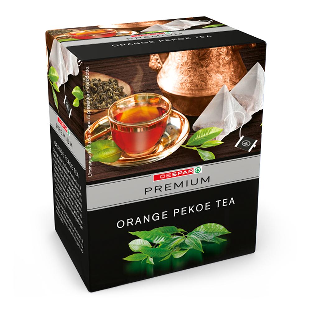 Orange Pekoe tea in bustina linea prodotti a marchio Despar Premium, Despar Italia