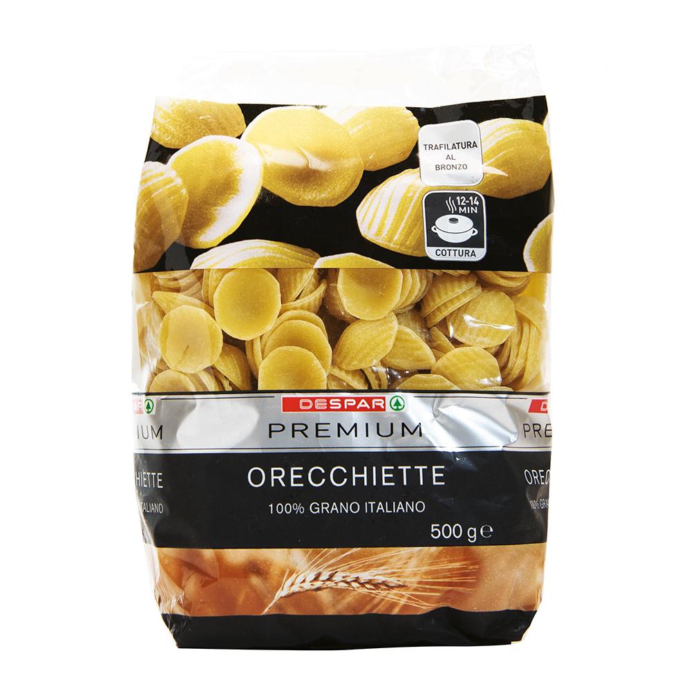 Orecchiette pasta trafilata al bronzo linea prodotti a marchio Despar Premium, Despar Italia
