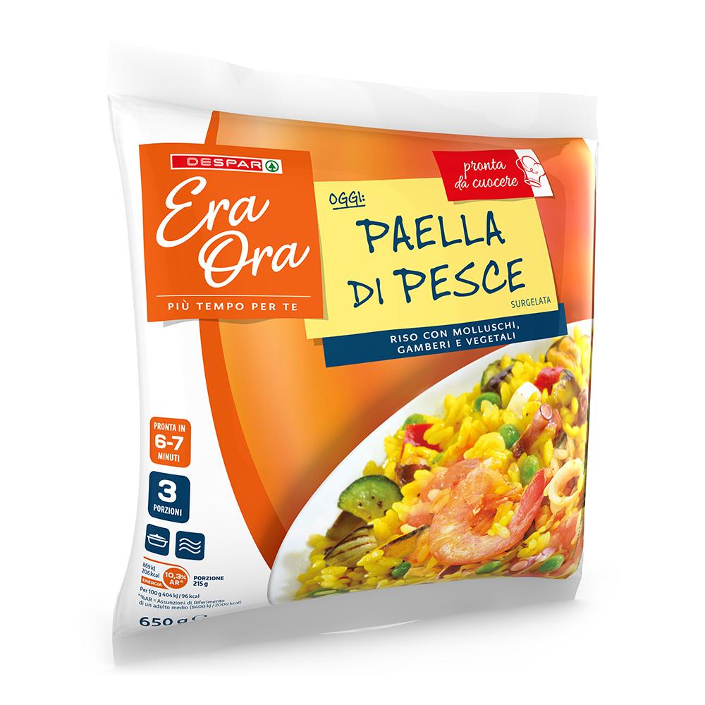Paella di pesce linea prodotti a marchio Despar Era Ora, Despar Italia