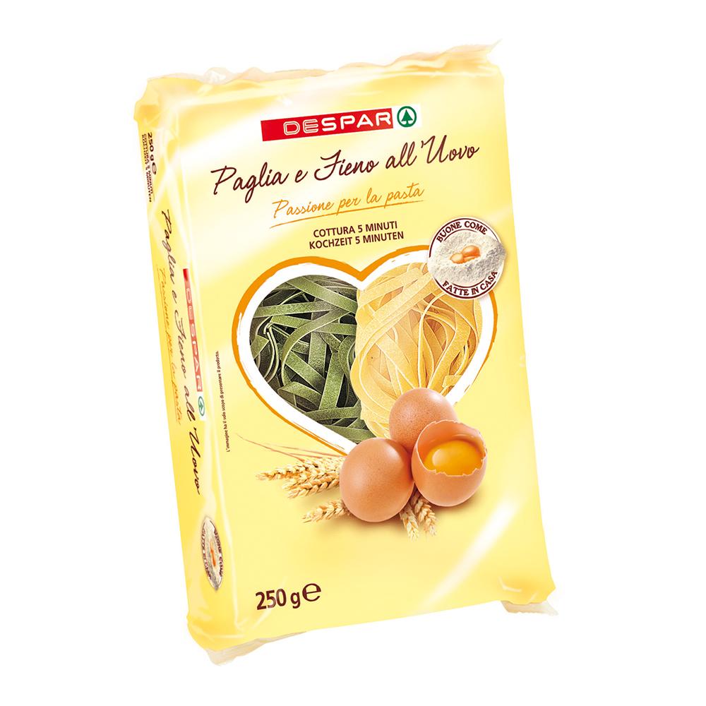 Pasta paglia e fieno all'uovo linea prodotti a marchio Despar, Despar Italia