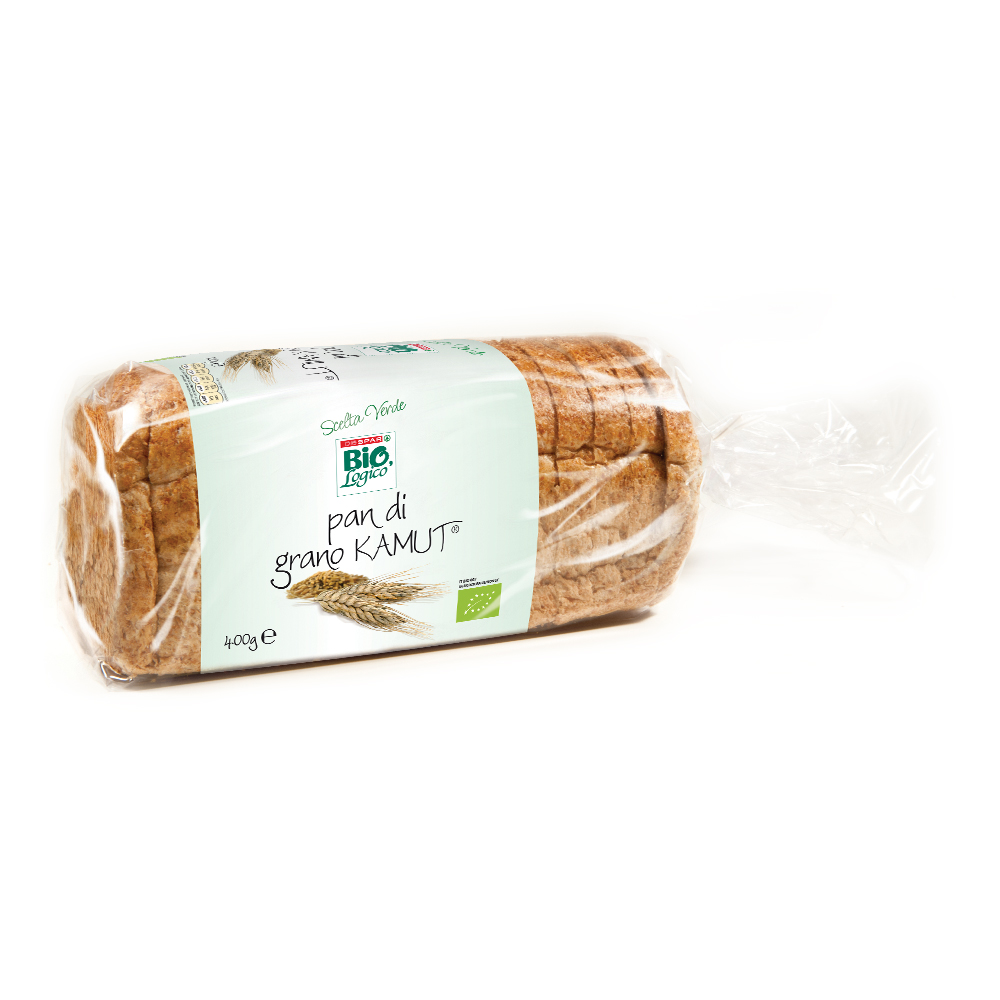 Pan di grano Kamut linea prodotti a marchio Despar Bio,Logico