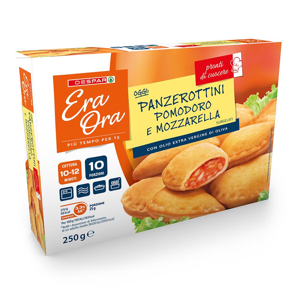 Panzerottini pomodoro e mozzarella linea prodotti a marchio Despar Era Ora, Despar Italia