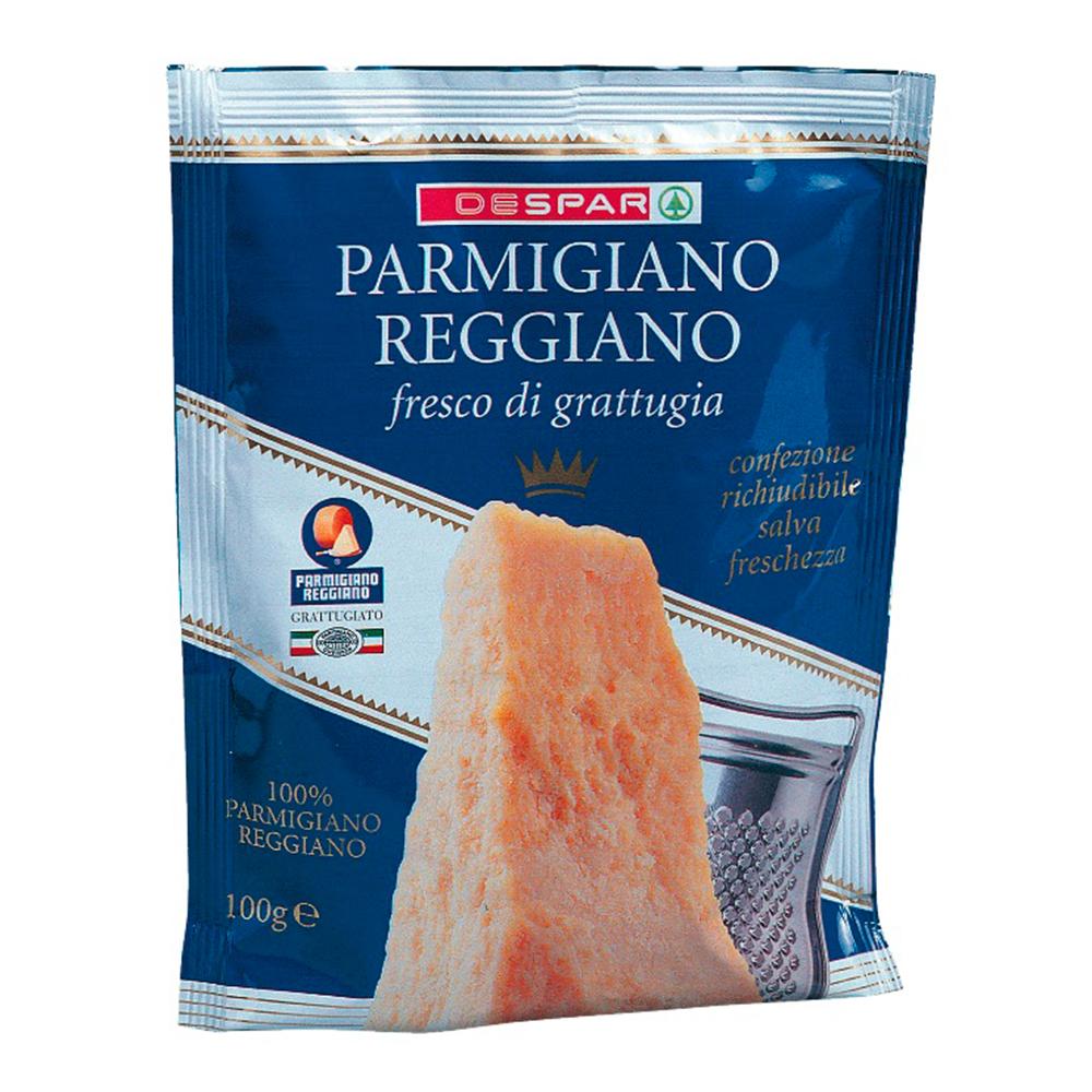 Parmiggiano Reggiano grattuggiato linea prodotti a marchio Despar, Despar Italia