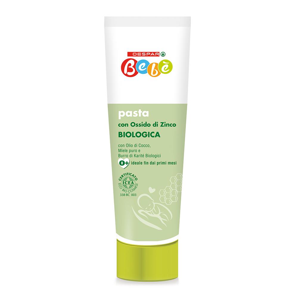 Pasta con ossido di zinco biologica 100 ml linea prodotti a marchio Despar Bebè