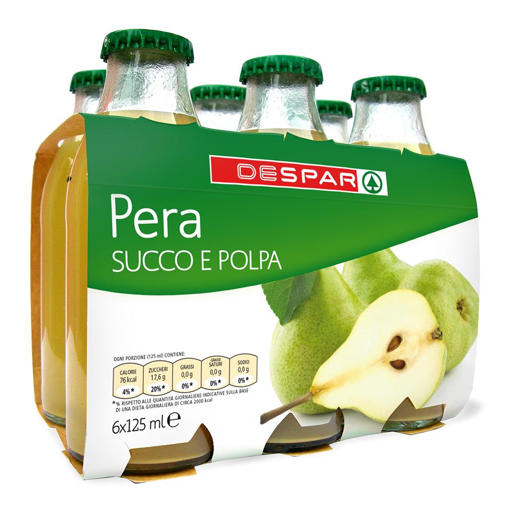 Succo di frutta pera linea prodotti a marchio Despar, Despar Italia
