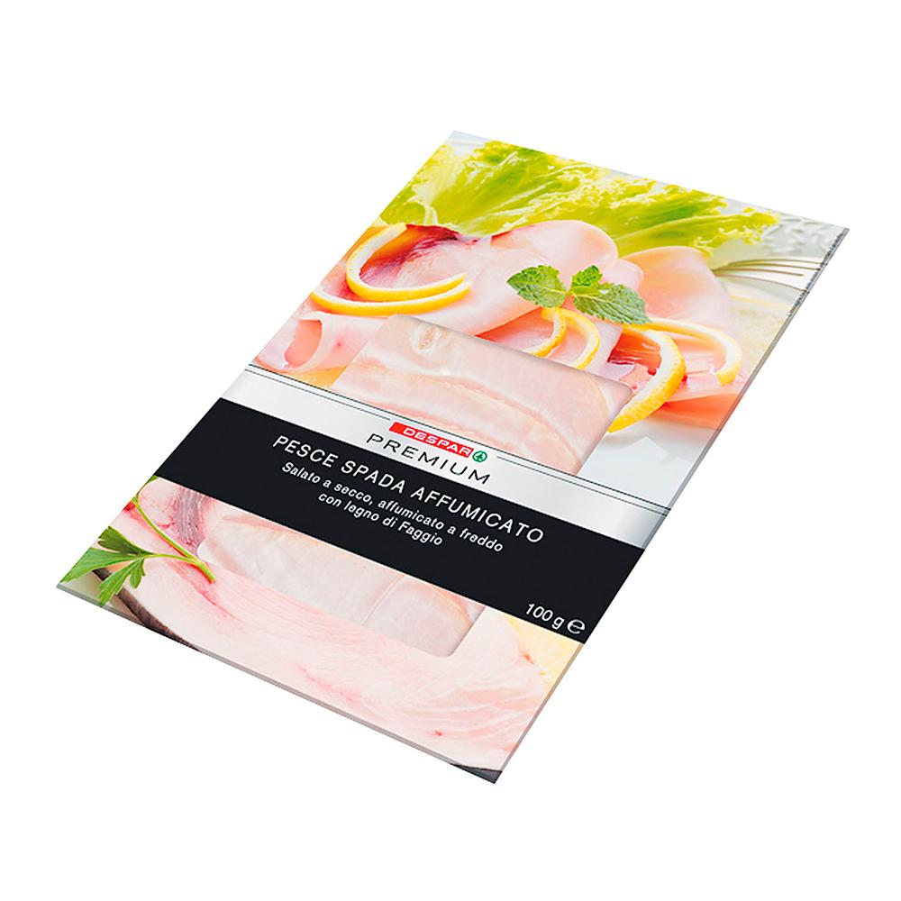 Pesce spada affumicato linea prodotti a marchio Despar Premium, Despar Italia
