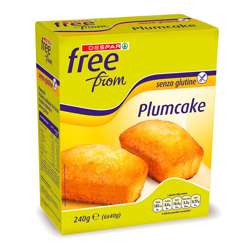Plumcake senza glutine linea prodotti a marchio Despar Free From