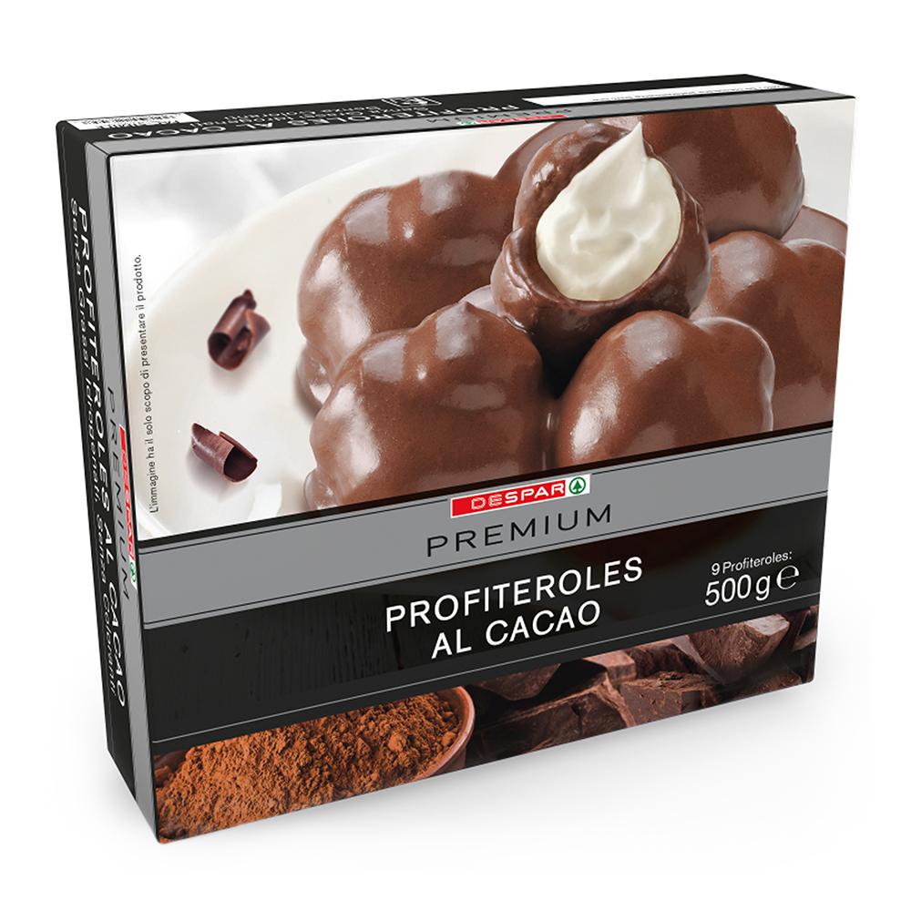 Profitteroles al cacaolinea prodotti a marchio Despar Premium, Despar Italia