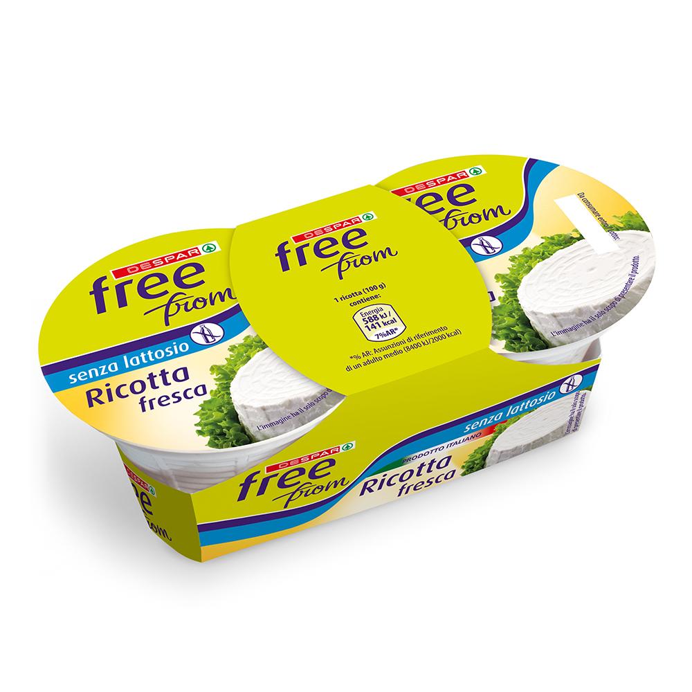 Ricotta fresca senza lattosio linea prodotti a marchio Despar Free From