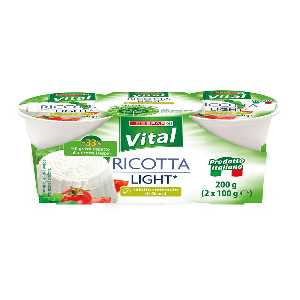 Ricotta light linea prodotti a marchio Despar Vital