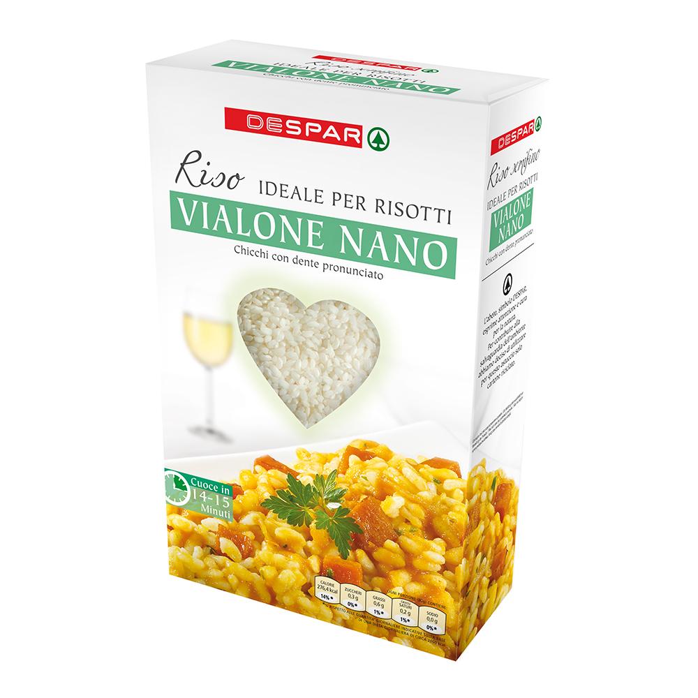 Riso per risotti vialone nano linea prodotti a marchio Despar, Despar Italia