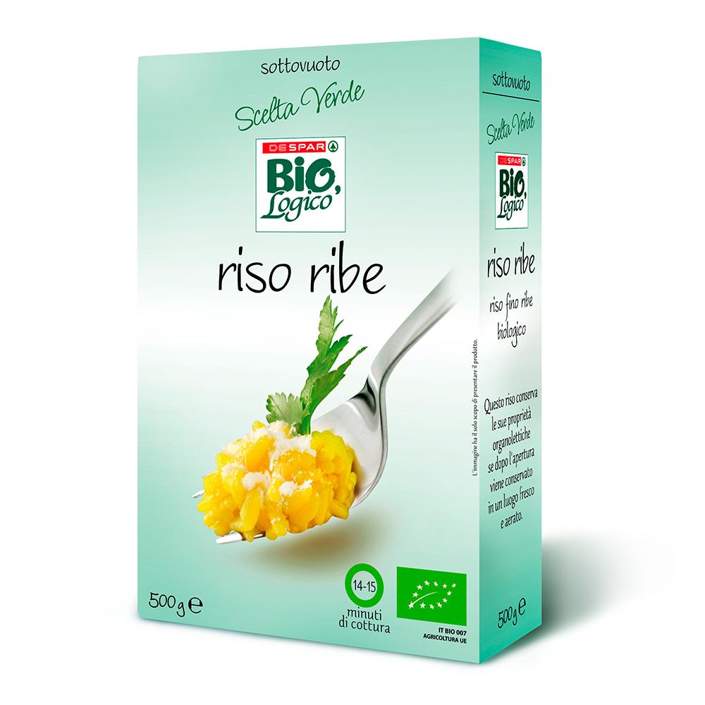 Riso Ribe linea prodotti a marchio Despar Bio,Logico