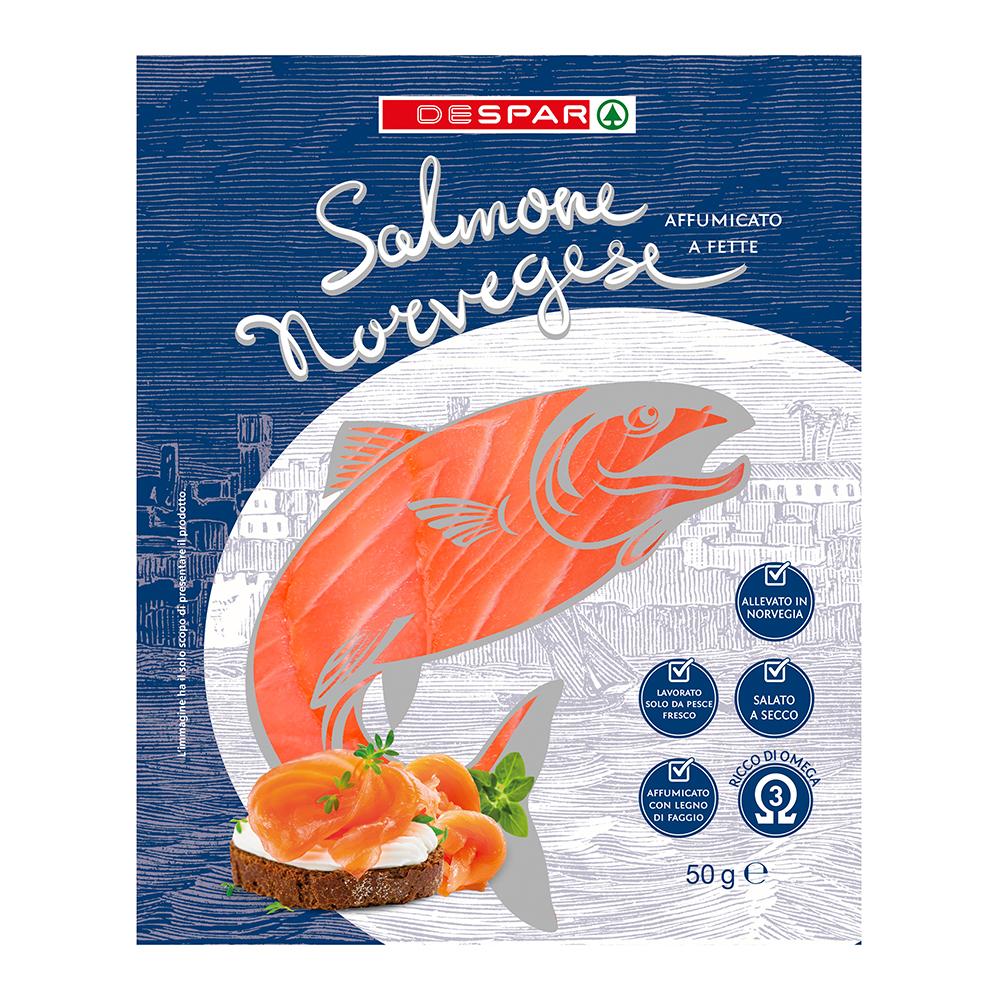 Salome norvegese affumicato linea prodotti a marchio Despar, Despar Italia