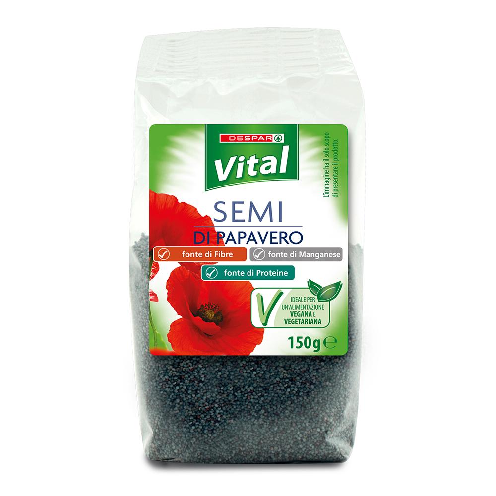 Semi di papavero linea prodotti a marchio Despar Vital