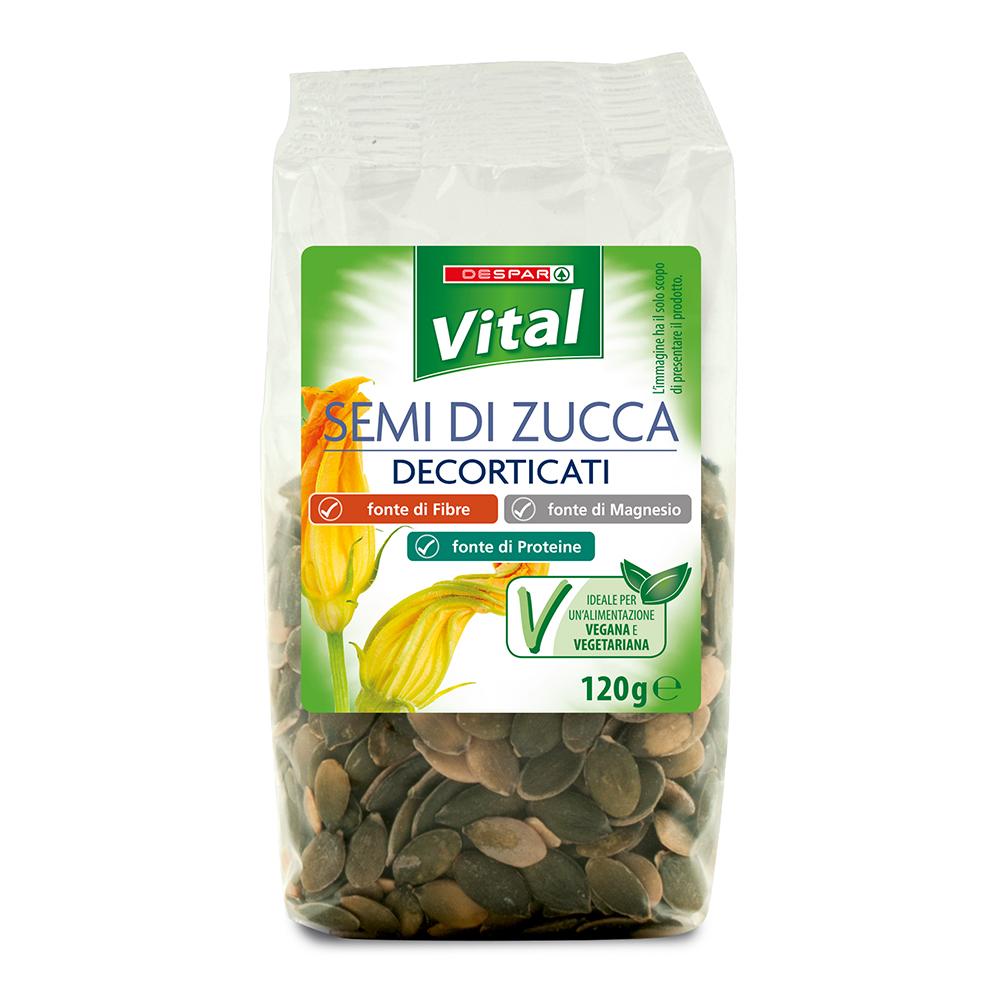 Semi di zucca decorticati linea prodotti a marchio Despar Vital