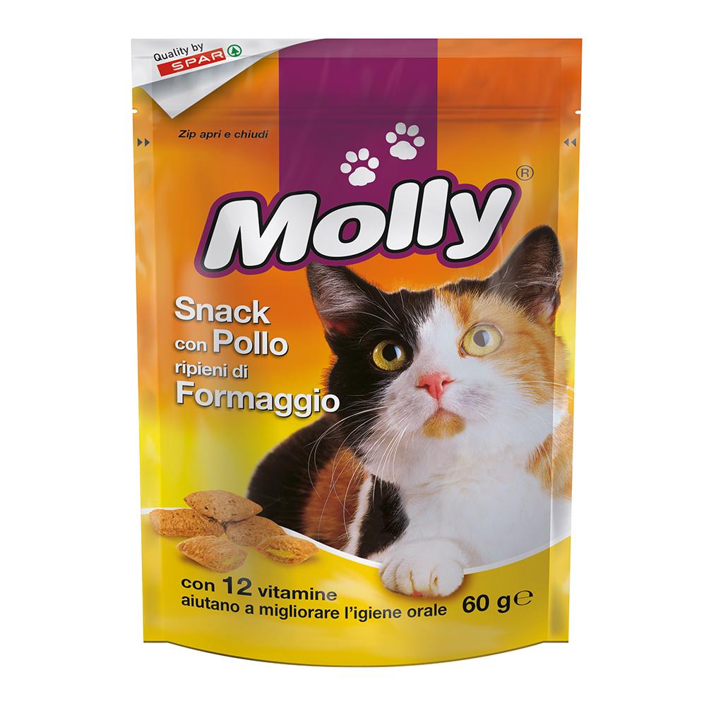 Snack con pollo ripieni di formaggio linea prodotti a marchio Despar Molly