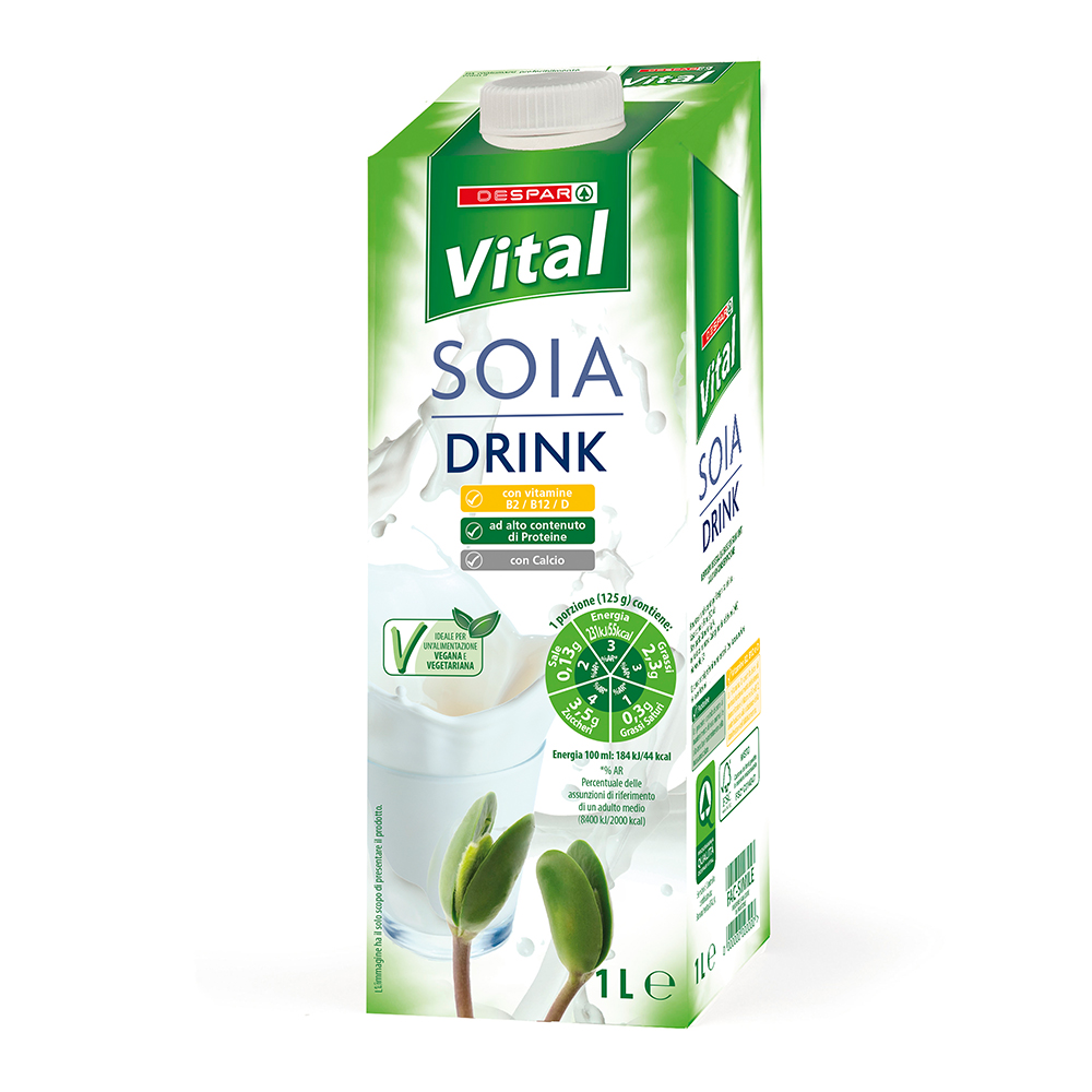 Soia drink 1 l linea prodotti a marchio Despar Vital