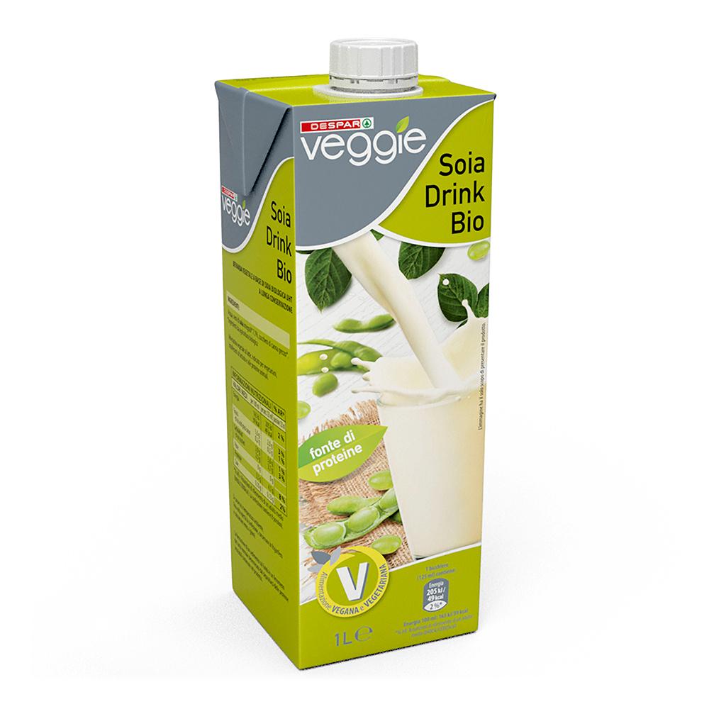 Soia drink bio linea prodotti a marchio Despar Veggie