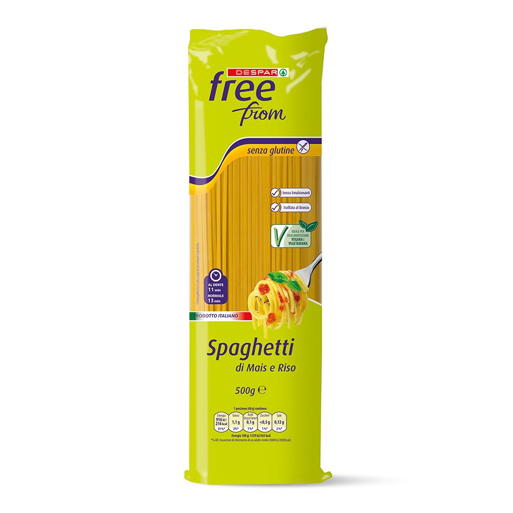 Spaghetti di mais e riso linea prodotti a marchio Despar Free From
