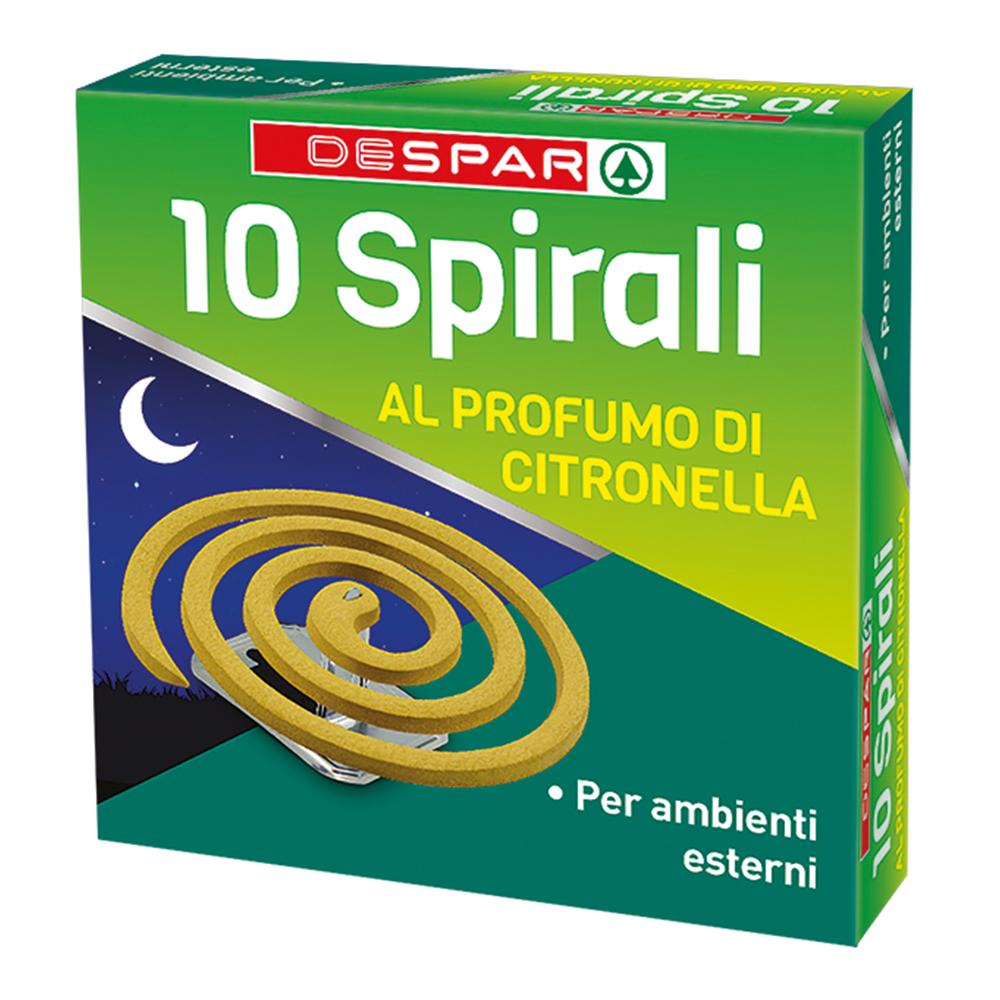 10 spirali alla citronella linea prodotti a marchio Despar, Despar Italia