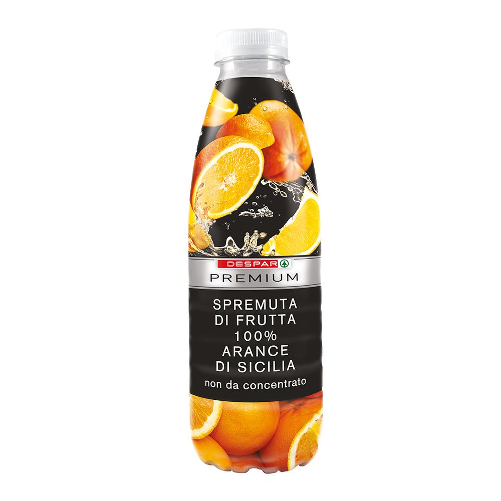 Spremuta di frutta 100% arance di Sicilia linea prodotti a marchio Despar Premium, Despar Italia