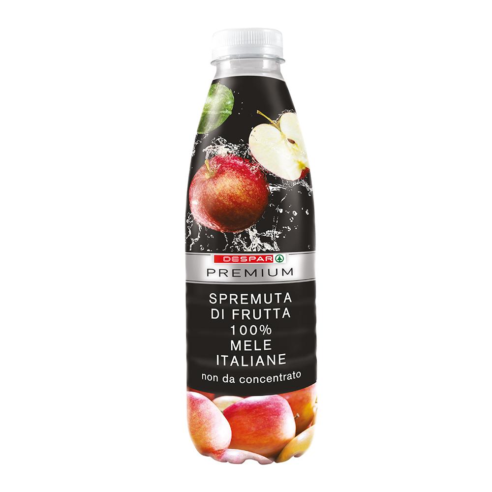 Spremuta di frutta 100% mele italiane linea prodotti a marchio Despar Premium, Despar Italia
