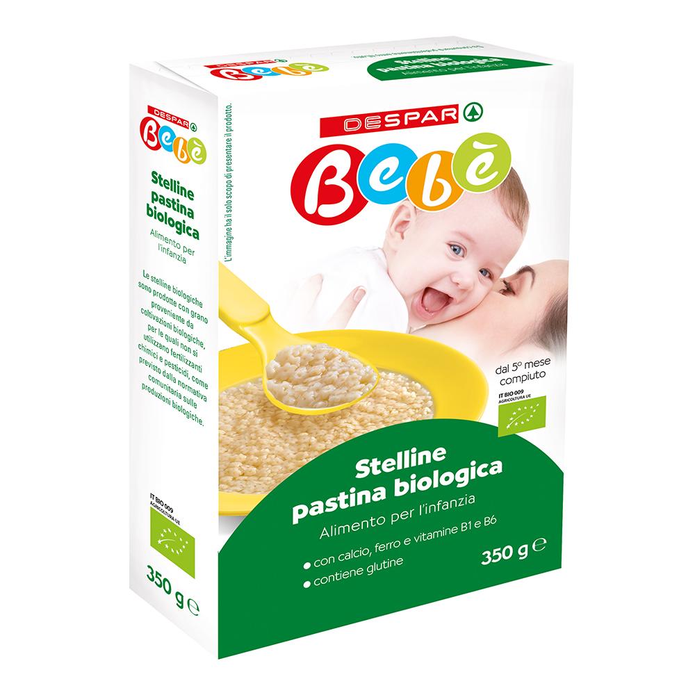 Stelline di pastina biologica linea prodotti a marchio Despar Bebè