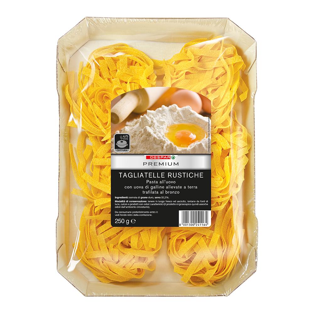 Tagliatelle rustiche all'uovo linea prodotti a marchio Despar Premium, Despar Italia