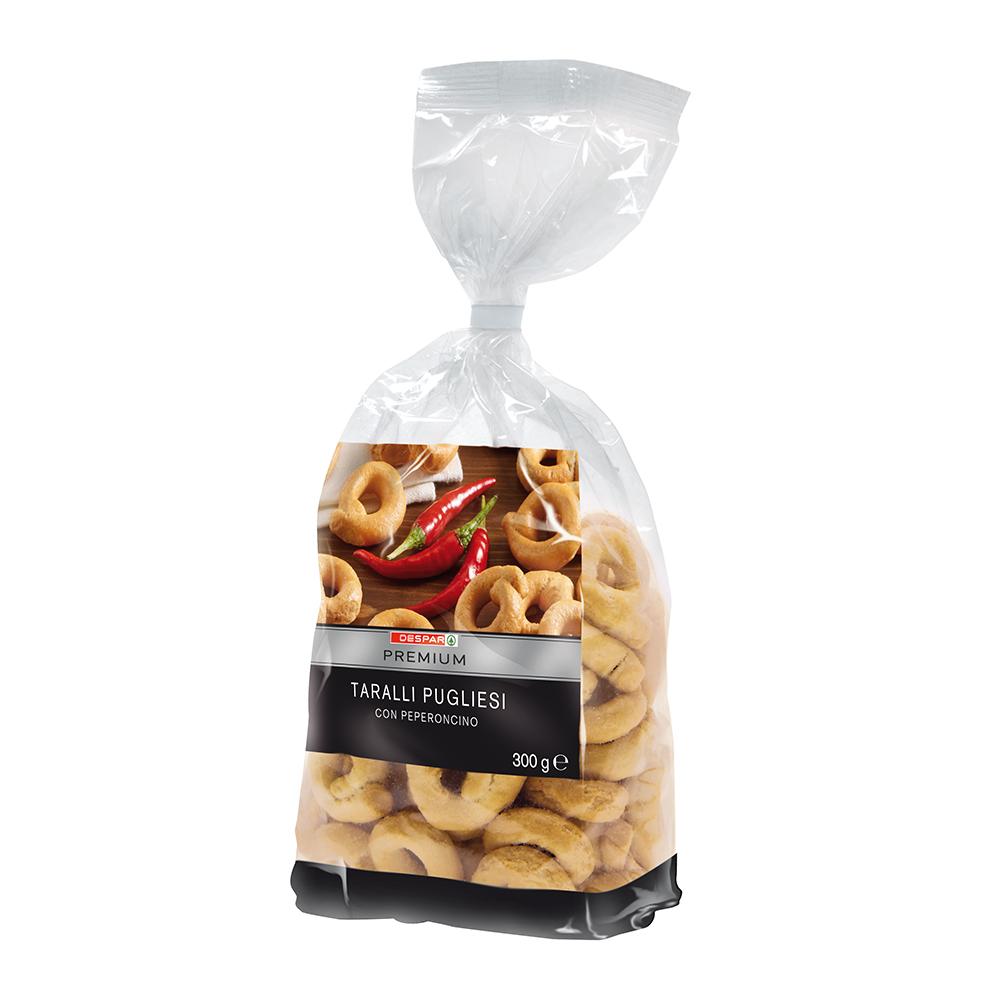 Taralli pugliesi con peperoncino linea prodotti a marchio Despar Premium, Despar Italia