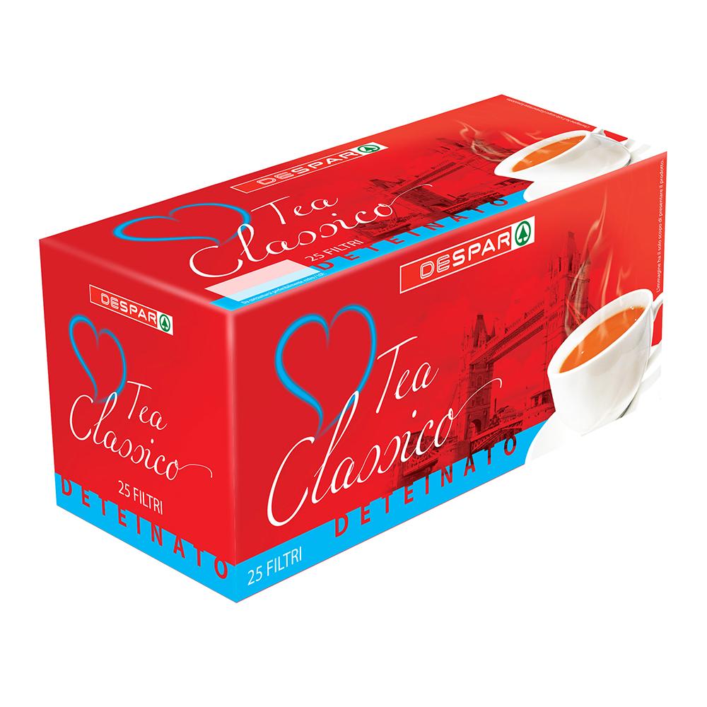 Tè classico deteinato in bustina linea prodotti a marchio Despar, Despar Italia