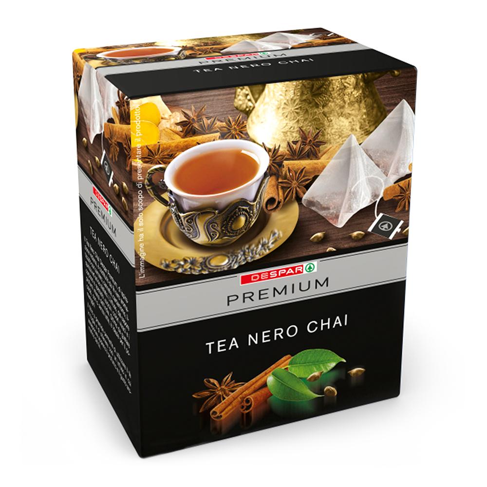 Tè nero Chai linea prodotti a marchio Despar Premium, Despar Italia