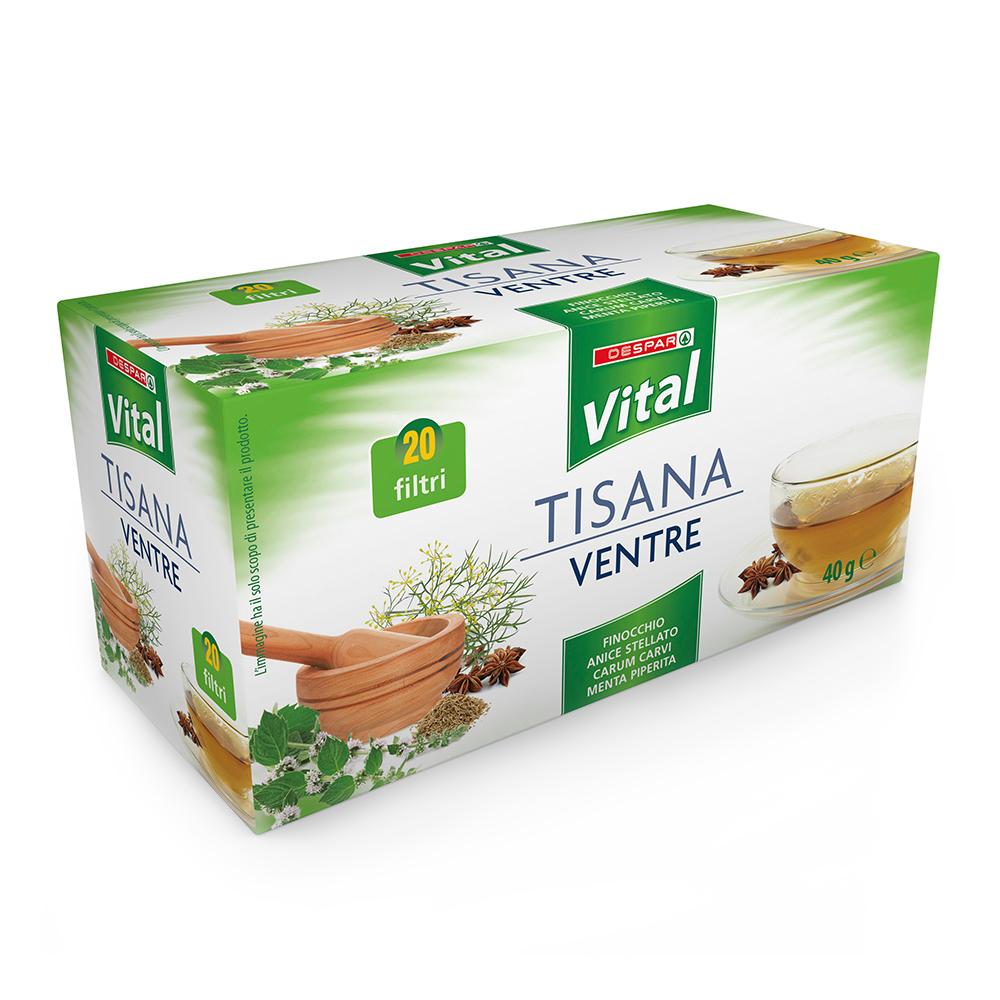 Tisana ventre 20 filtri linea prodotti a marchio Despar Vital
