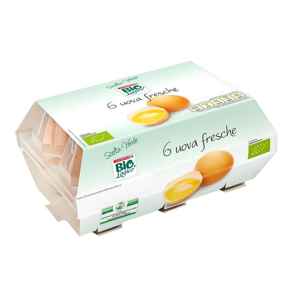 Uova fresche 125 g linea prodotti a marchio Despar Bio,Logico