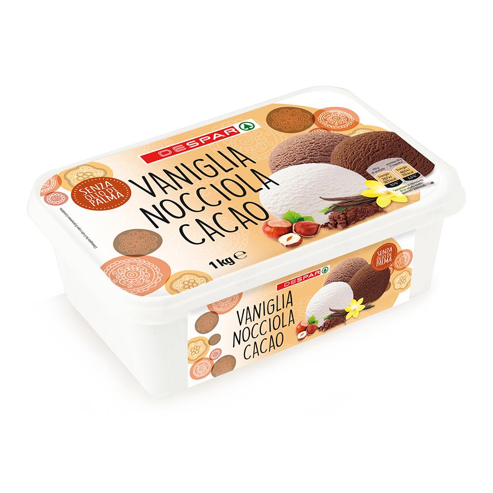 Gelato vaniglia, nocciola, cacao linea prodotti a marchio Despar, Despar Italia