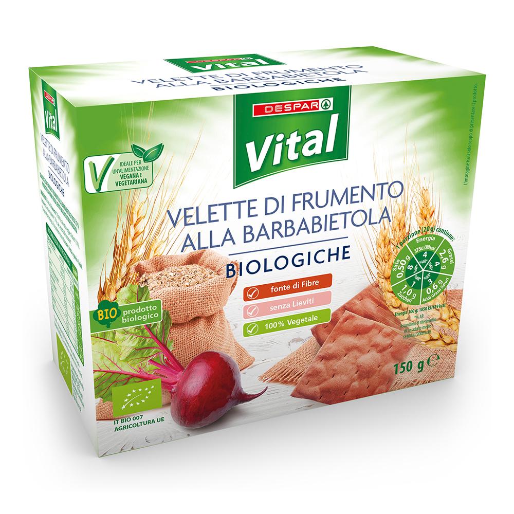 Velette di frumento alla barbabietola linea prodotti a marchio Despar Vital