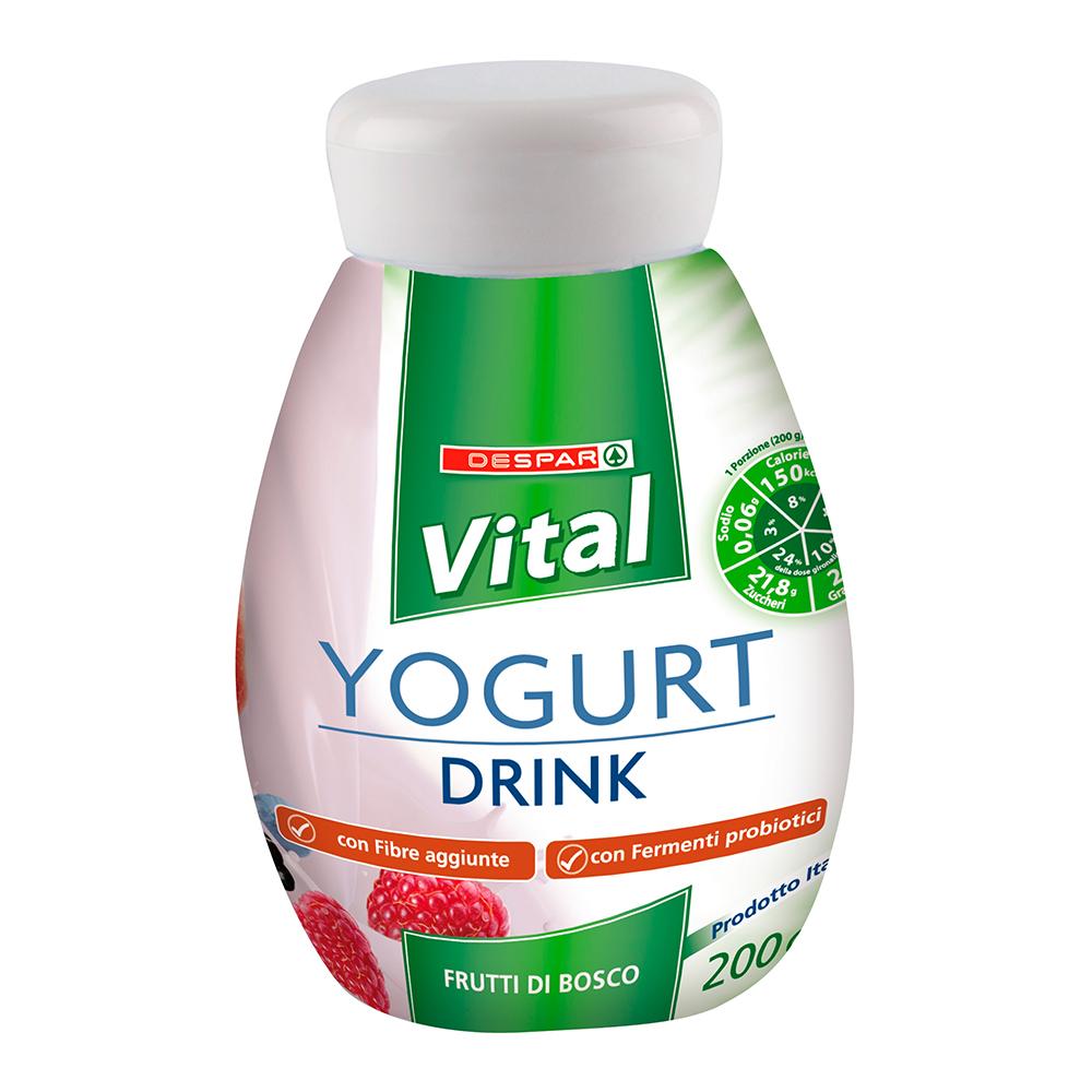 Yogurt drink linea prodotti a marchio Despar Vital