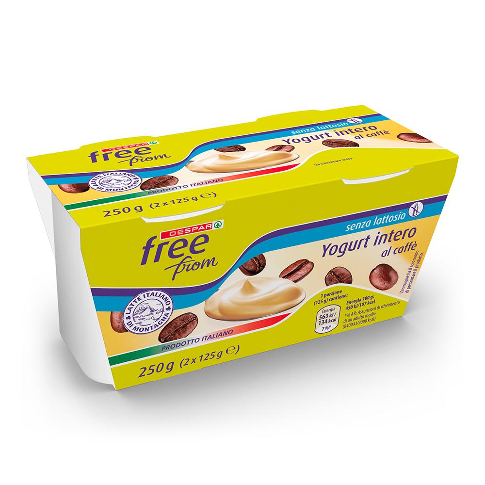 Yogurt intero senza lattosio linea prodotti a marchio Despar Free From