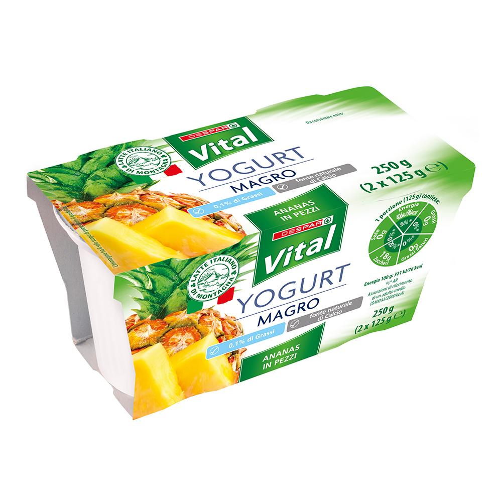 Yogurt magro linea prodotti a marchio Despar Vital