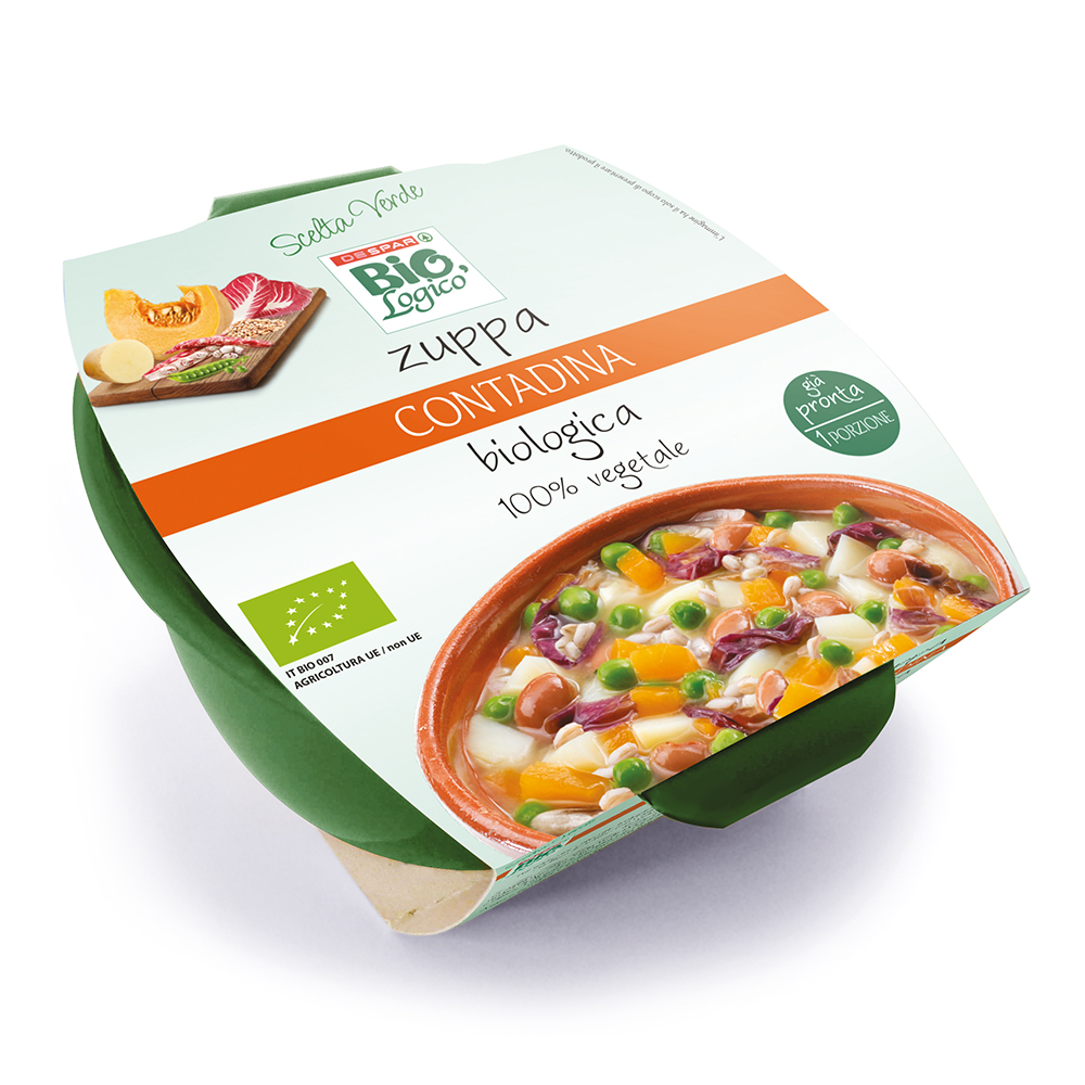 Zuppa contadina biologica linea prodotti a marchio Despar Bio,Logico