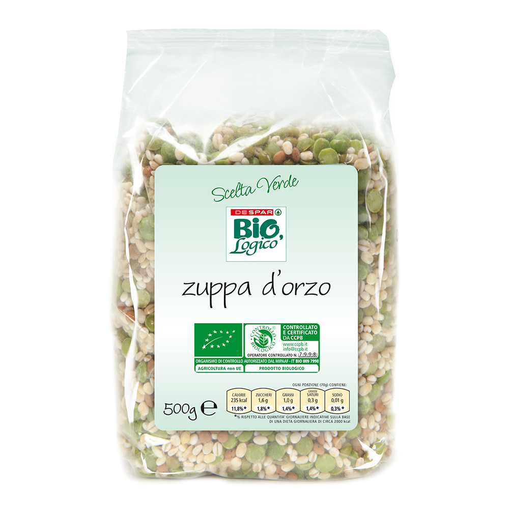 Zuppa d'orzo 500 g linea prodotti a marchio Despar Bio,Logico